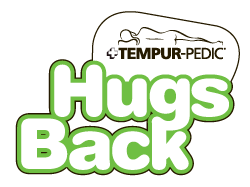 hugs back logo tempur pedic